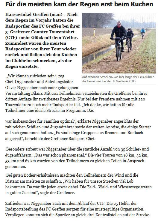 """Artikel aus der Zeitung """"Die Glocke"""" vom 20.2.2017"""