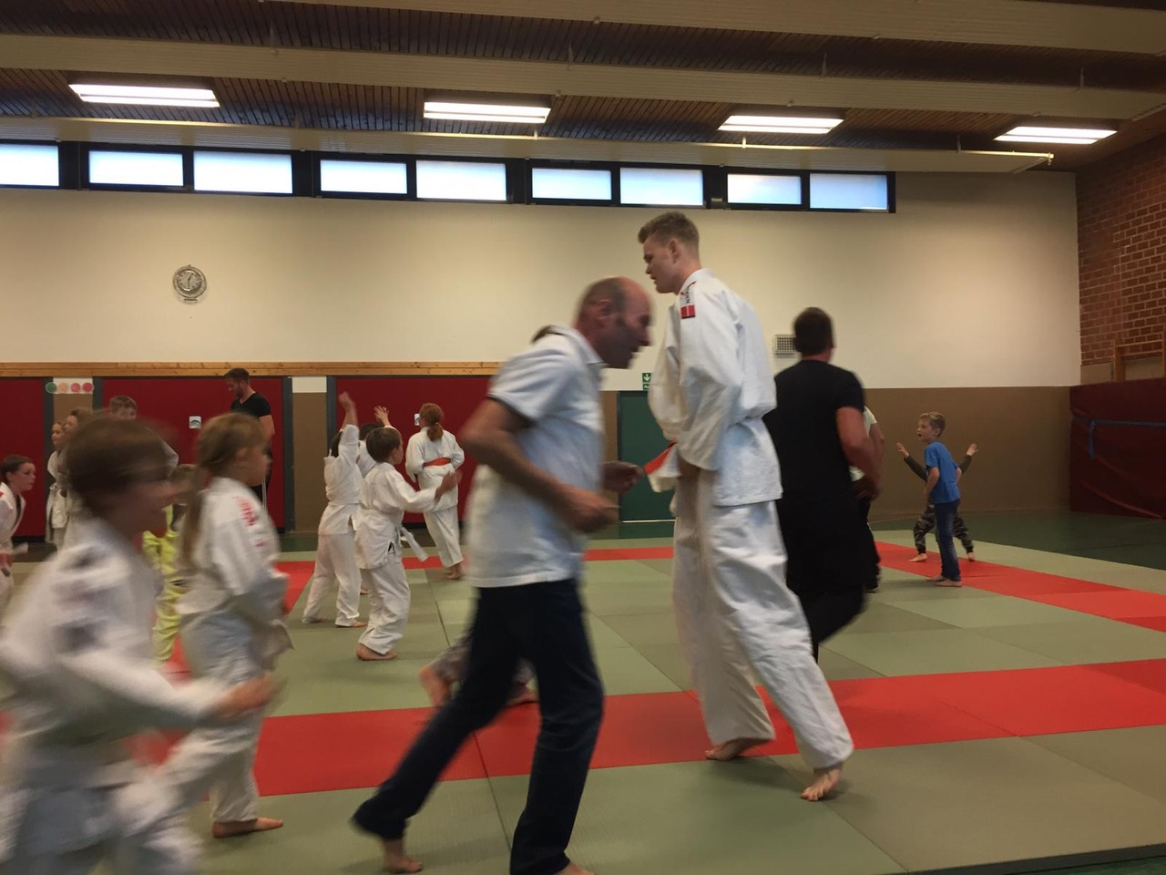 Judo Training in der Halle