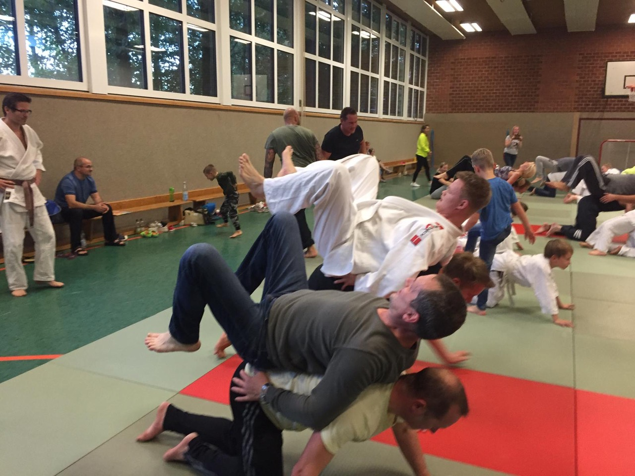 Judo: Training in der Halle